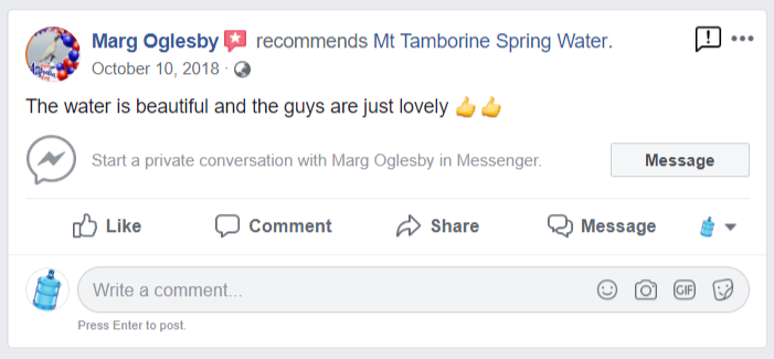facebook Spring water review 1